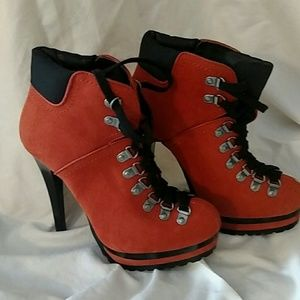Orange Stiletto Boots